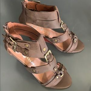 Jeffrey Campbell Brown Buckle Sandals FINAL Price
